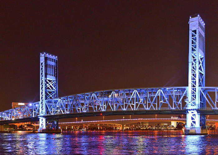 Main Greeting Card featuring the photograph Main Street Bridge Jacksonville by Christine Till