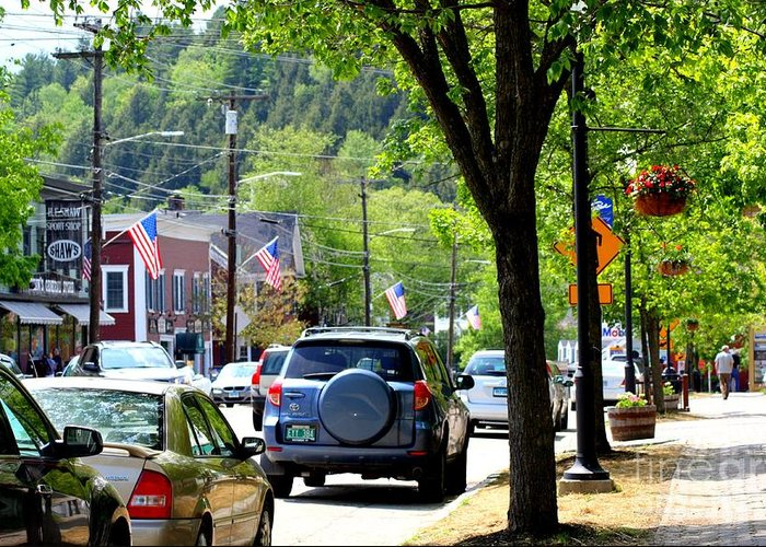 Main Street Greeting Card featuring the photograph Main Street by Patti Whitten