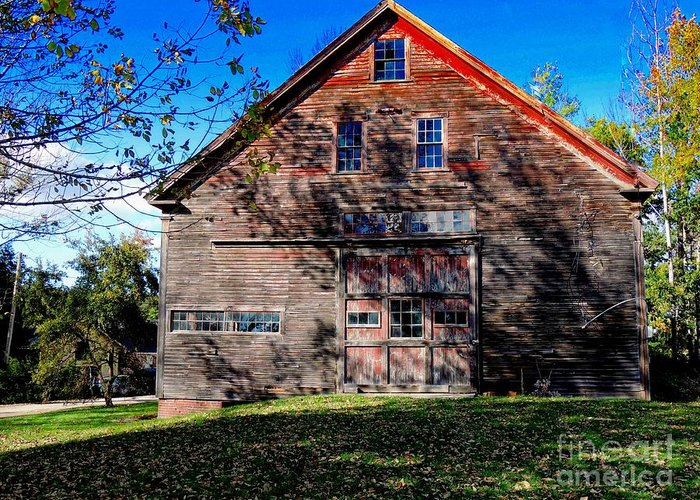 Architecture Greeting Card featuring the photograph Maine Barn by Marcia Lee Jones
