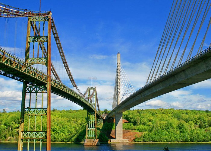 Bridges Greeting Card featuring the photograph Maine Bridges by Barbara West