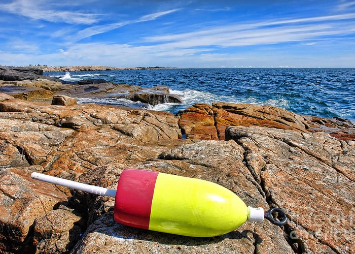 Buoy Greeting Card featuring the photograph Maine Coast by Olivier Le Queinec