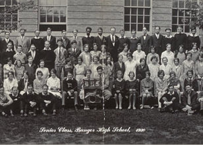 1930 Greeting Card featuring the photograph Maine High School, 1930 by Granger