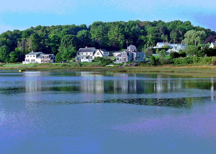 Maine Greeting Card featuring the photograph Maine Lakefront by Suzanne Gaff