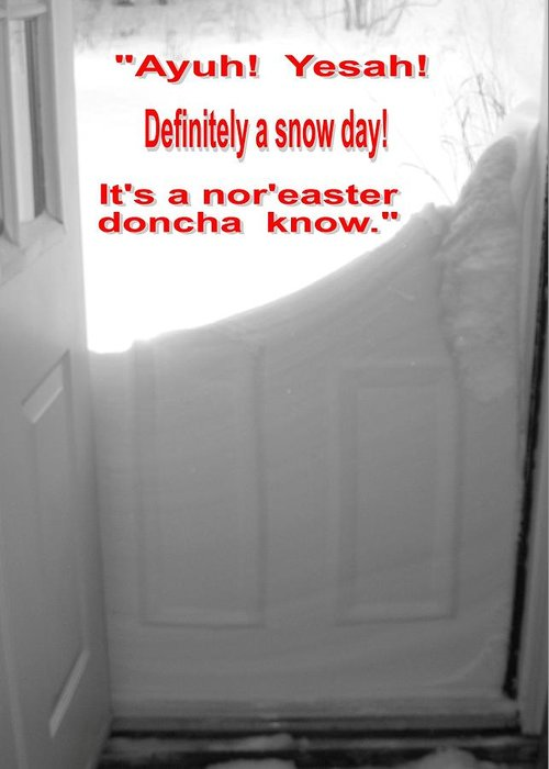 Nature Greeting Card featuring the photograph Maine Winter Nor'easter. Yesah by Patricia E Sundik