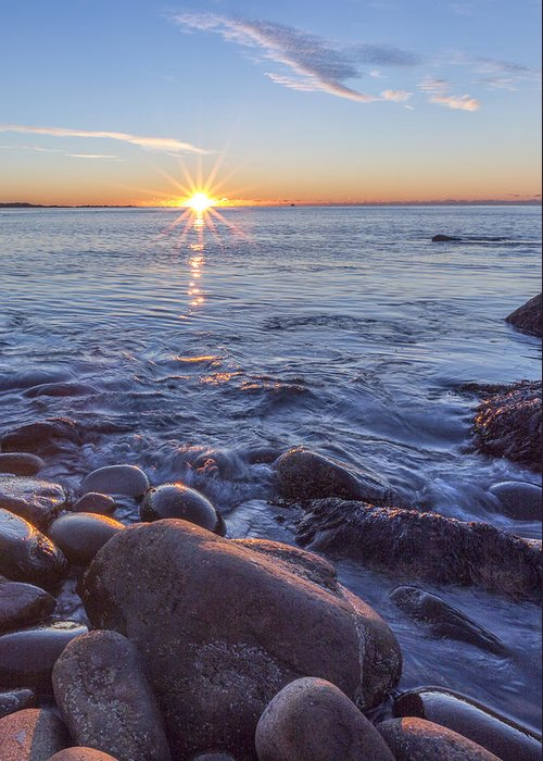 Vertical Greeting Card featuring the photograph Mainly Water by Jon Glaser