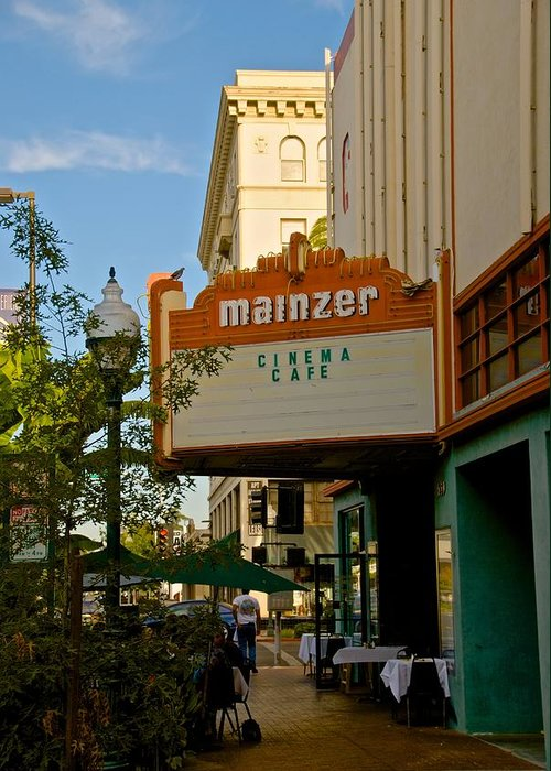 Merced Greeting Card featuring the photograph Mainzer Theater by Eric Tressler