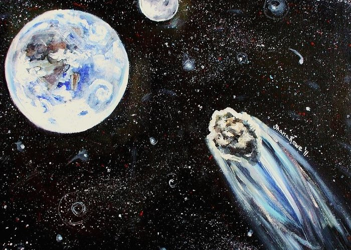 Space Greeting Card featuring the painting Make A Wish by Shana Rowe Jackson