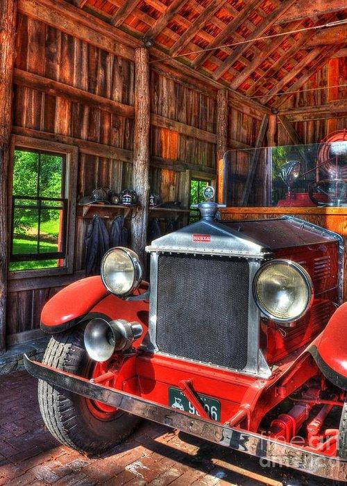 Fire Trucks Greeting Card featuring the photograph Maker's Mark Firehouse 2 by Mel Steinhauer