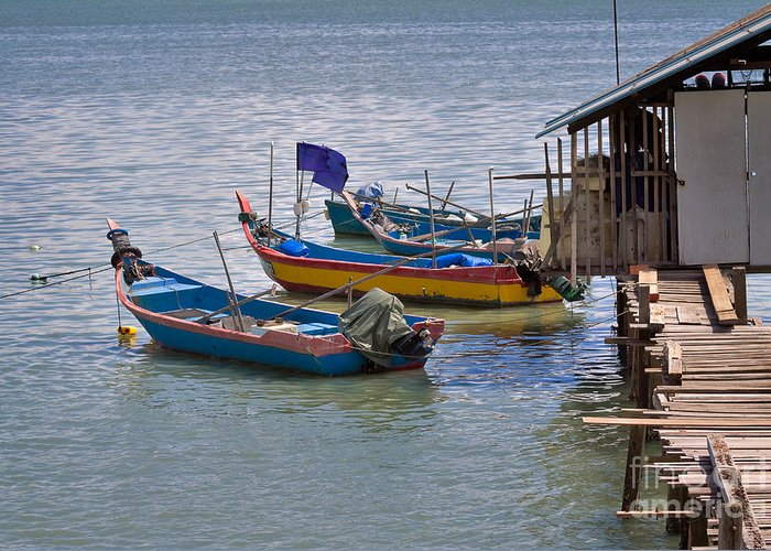 Travel Greeting Card featuring the photograph Malaysian Fishing Jetty by Louise Heusinkveld