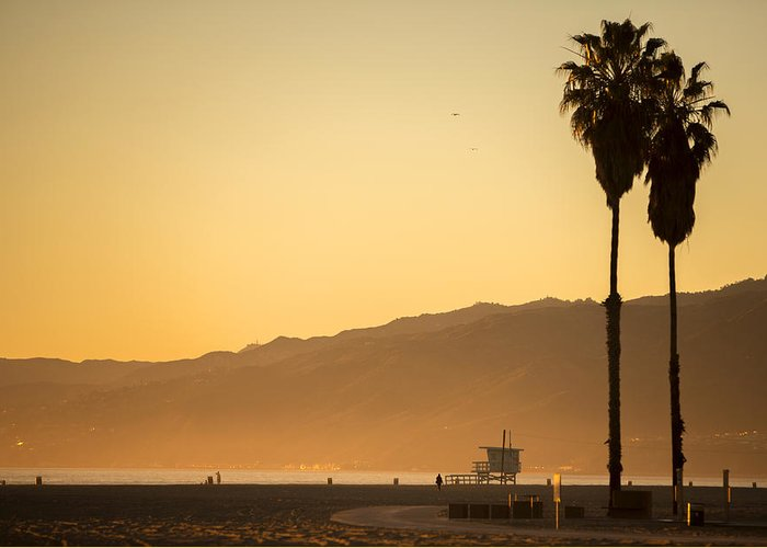 Sunset Greeting Card featuring the photograph Malibu Beach by Nikolas Kolenich