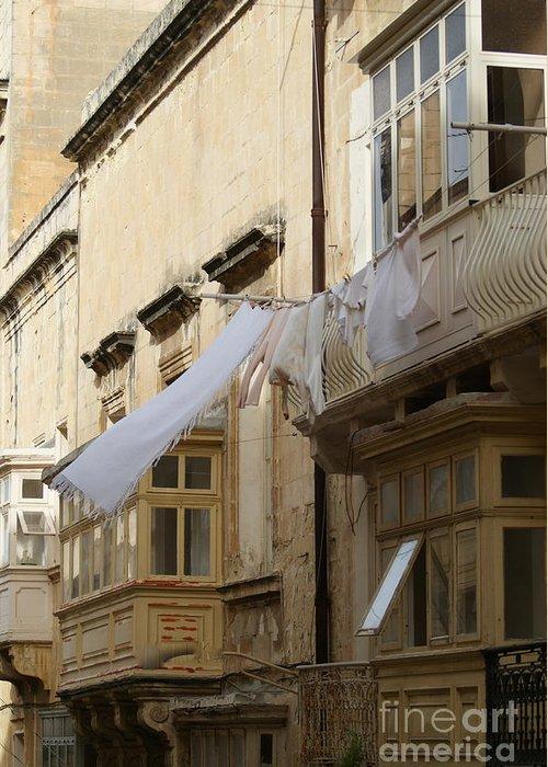 Malta Greeting Card featuring the photograph Malta Drying by Danielle DiBella