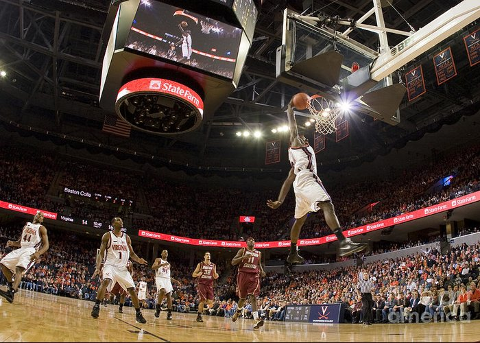 Athletics Greeting Card featuring the photograph Mamadi Diane Dunk Against Boston College by Jason O Watson