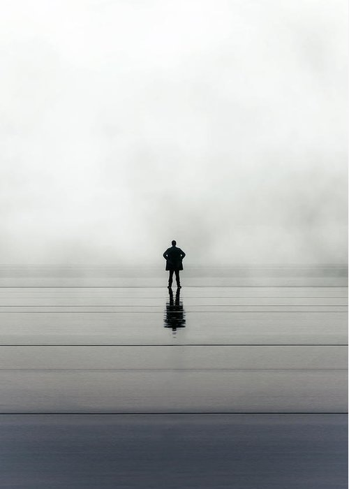 Young Greeting Card featuring the photograph Man Alone by Joana Kruse