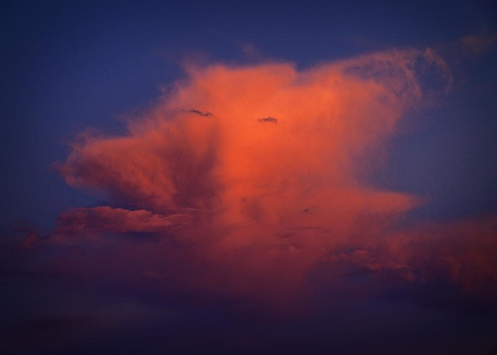 Cloud Formation Greeting Card featuring the photograph Man In The Cloud by Monica Havelka