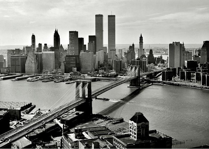 New York Greeting Card featuring the photograph Manhattan 1978 by Benjamin Yeager