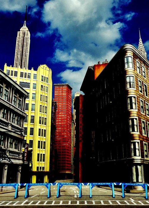 Manhattan Greeting Card featuring the photograph Manhattan Highlights by Benjamin Yeager