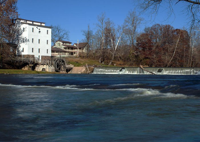 Mansfield Mill Greeting Card featuring the photograph Mansfield Mill by Thomas Sellberg