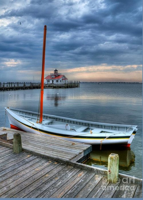Boats Greeting Card featuring the photograph Manteo Waterfront 2 by Mel Steinhauer