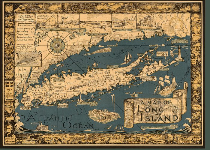 Antique Map Photographs Greeting Cards