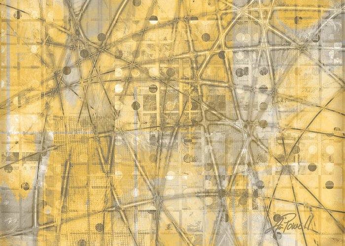 Abstract Greeting Card featuring the digital art Map Of Secrets by Ann Powell