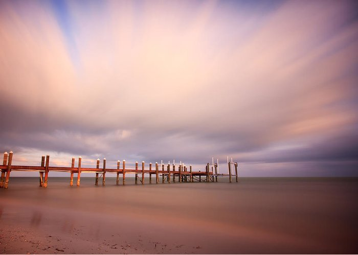 Abstract Greeting Card featuring the photograph Marathon Key Long Exposure by Adam Romanowicz