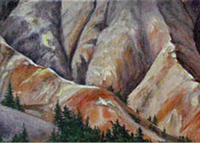 Mountains Greeting Card featuring the painting Marble Ridge by Elaine Booth-Kallweit