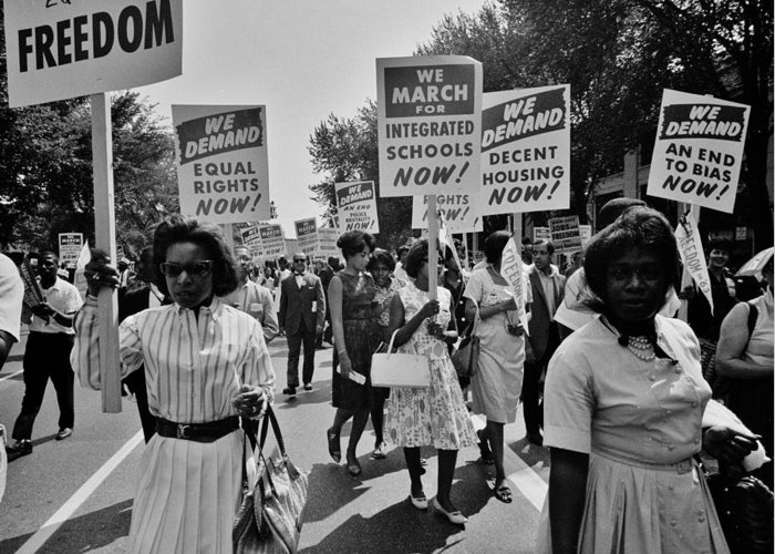 Civil Rights Greeting Card featuring the photograph March For Equality by Benjamin Yeager
