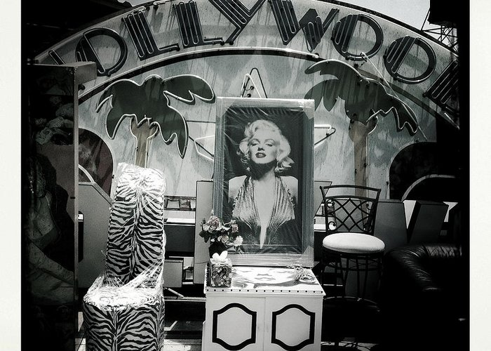 Celebrity Greeting Card featuring the photograph Marilyn Monroe by Fitzroy Barrett