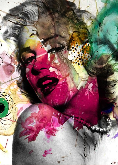 Pop Art Greeting Card featuring the photograph Marilyn Monroe by Mark Ashkenazi
