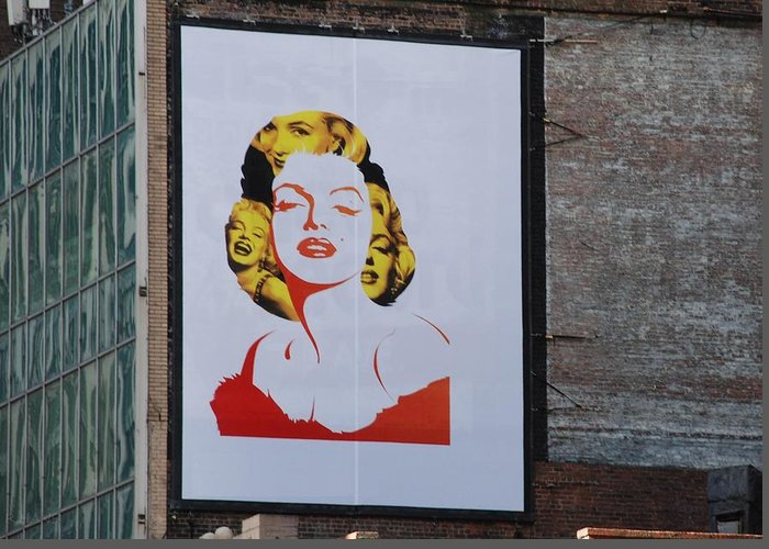 Marilyn Monroe Greeting Card featuring the photograph Marilyn Monroe by Rob Hans