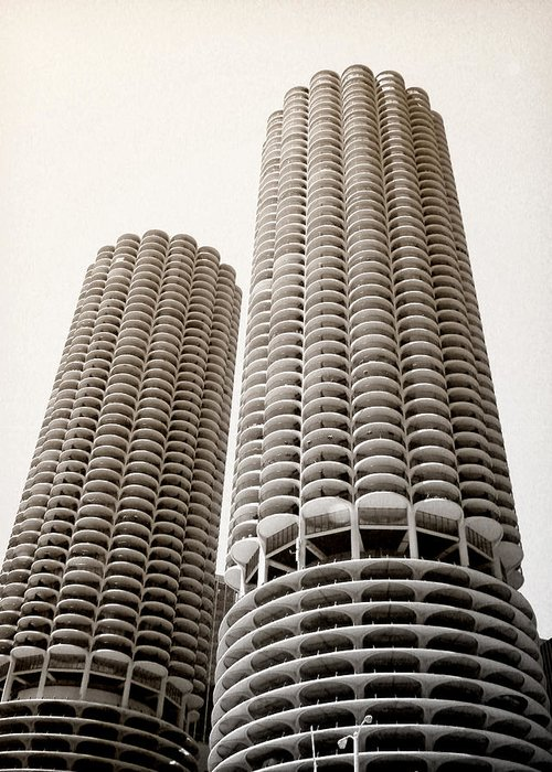Marina City Greeting Card featuring the photograph Marina City Chicago by Julie Palencia