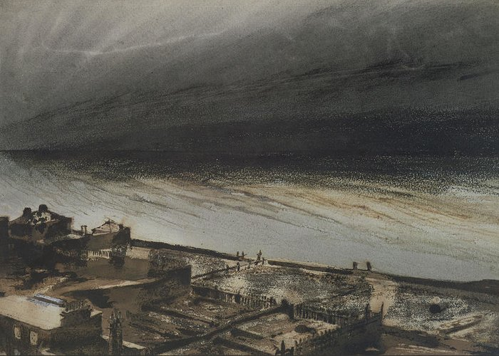 Marine Greeting Card featuring the painting Marine Terrace In Jersey by Victor Hugo