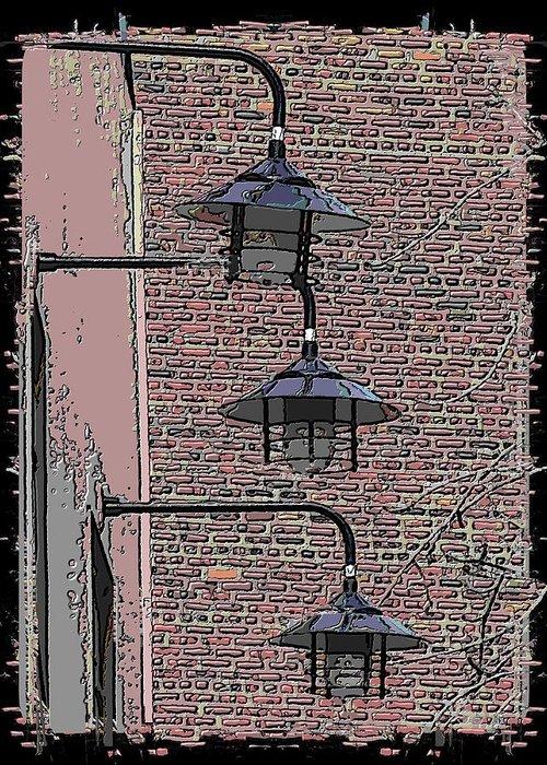 Market Greeting Card featuring the digital art Market Lights by Tim Allen