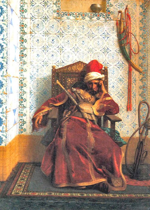 Markos Botsaris Greeting Card featuring the digital art Markos Botsaris by Jean Leon Gerome