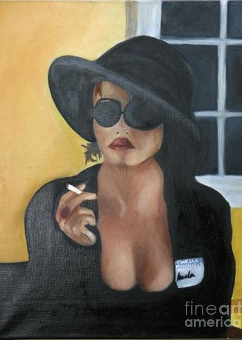 Marla Greeting Card featuring the painting Marla by Simonne Mina