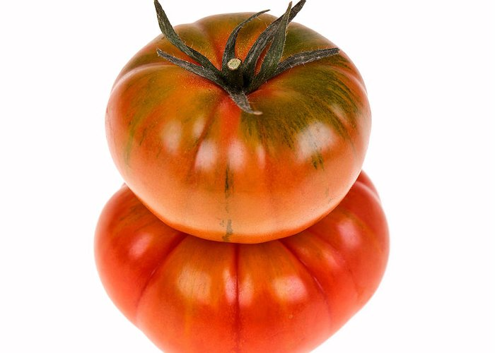 Agriculture Greeting Card featuring the photograph Marmande Tomatoes by Jane Rix