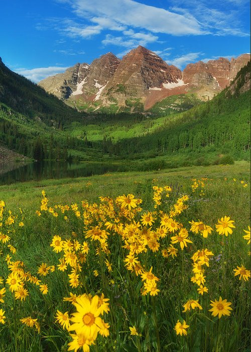 Colorado Landscapes Greeting Card featuring the photograph Maroon Summer by Darren White