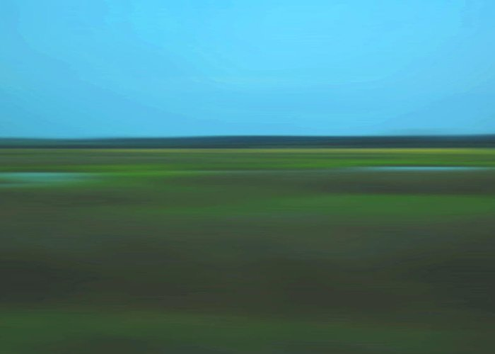 Abstract Greeting Card featuring the photograph Marsh Blur by Suzanne Gaff