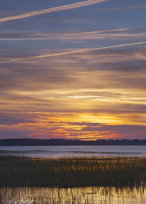 Beaufort County Greeting Card featuring the photograph Marsh Sunset by Phill Doherty