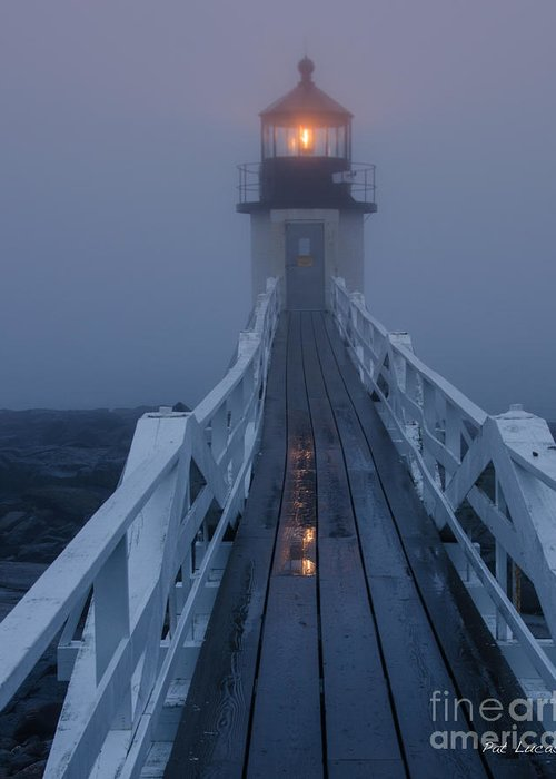 Marshall Point Greeting Card featuring the photograph Marshall Point Lighthouse by Pat Lucas