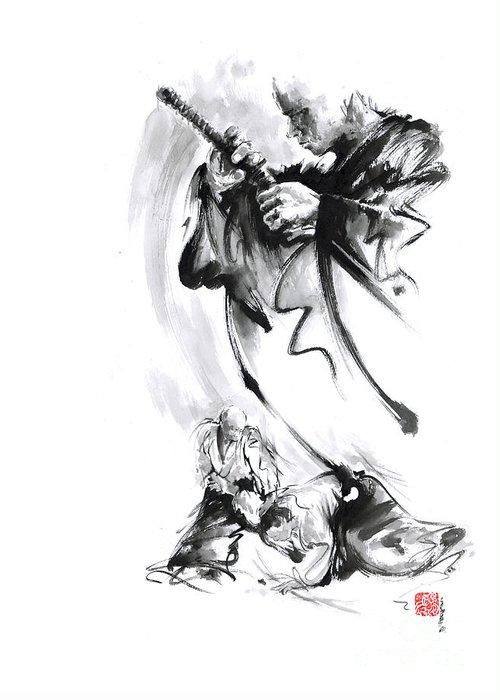 Martial arts japan warrior aikido poster greeting card for sale by martial arts greeting card featuring the painting martial arts japan warrior aikido poster by mariusz m4hsunfo