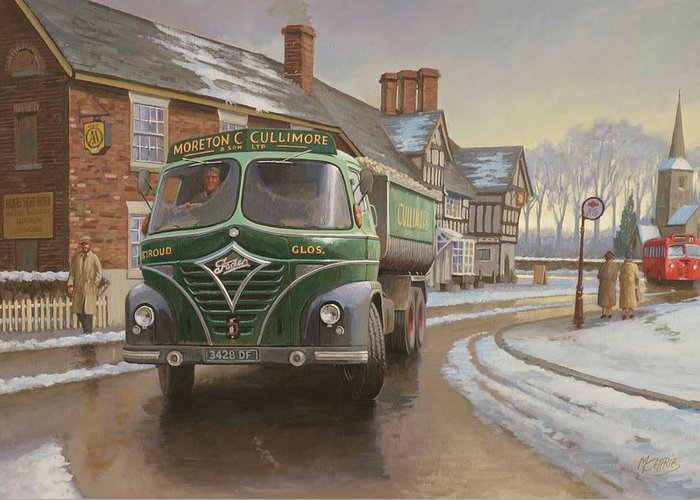 Painting For Sale Greeting Card featuring the painting Martin C. Cullimore Tipper. by Mike Jeffries