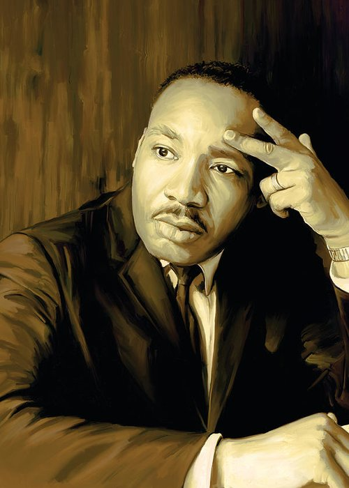 Martin Luther King Jr Paintings Greeting Card featuring the painting Martin Luther King Jr Artwork by Sheraz A