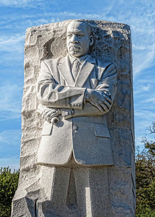 Photography Greeting Card featuring the photograph Martin Luther King Jr. Memorial At West by Panoramic Images