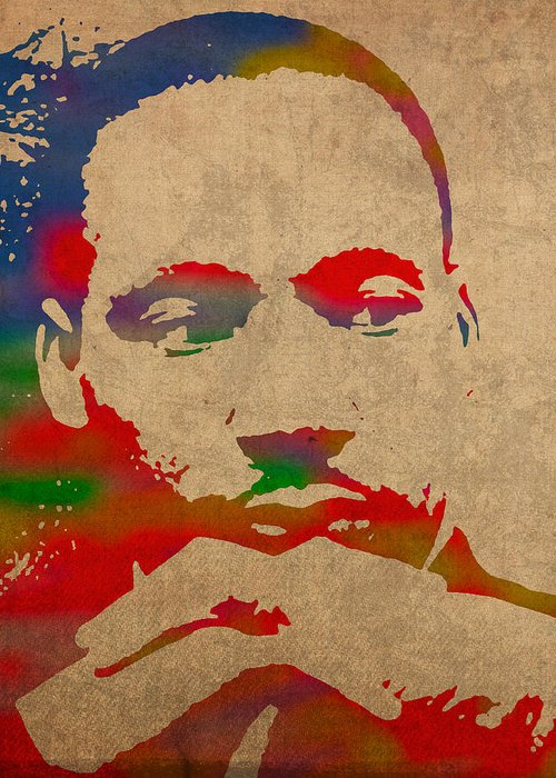 Martin Luther King Mixed Media Greeting Cards