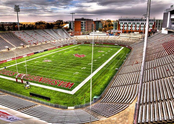 Washington State University Greeting Card featuring the photograph Martin Stadium At Washington State by David Patterson