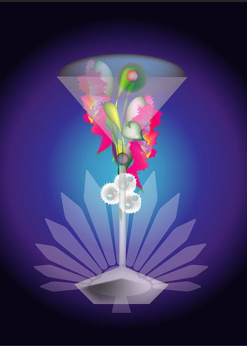 Martini Greeting Card featuring the digital art Martini Flower by George Pasini