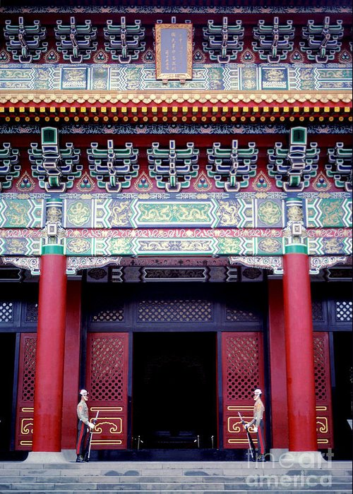 Martyrs' Shrine Greeting Card featuring the photograph Martyrs' Shrine In Taipei by Anna Lisa Yoder