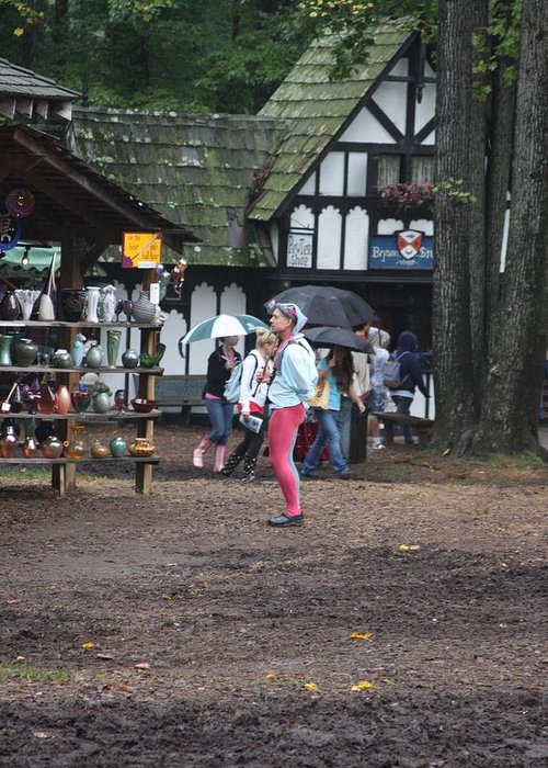 Maryland Greeting Card featuring the photograph Maryland Renaissance Festival - A Fool Named O - 121231 by DC Photographer
