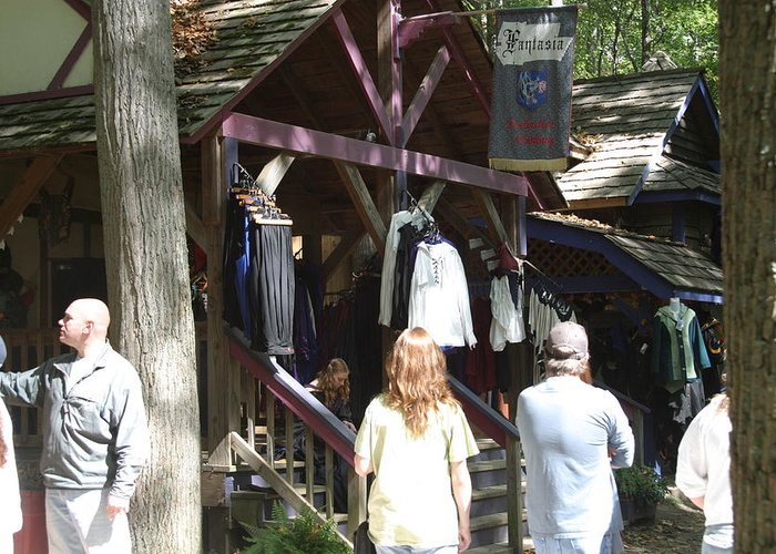 Maryland Greeting Card featuring the photograph Maryland Renaissance Festival - Merchants - 121264 by DC Photographer